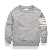 Newest Spring Sweatshirts Boys Tops Pullover Long Sleeve Cotton Solid Kids Coats Baby Toddler Boys Sweatshirt