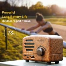 Retro Bluetooth Speaker Stand Portable HIFIi Stereo 3D Loudspeakers Outdoor Speakers Fm Radio Vintage Music Box Computer