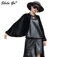 Элегантные кожаные водолазки для женщин уличная Свободная рубашка с рукавами «летучая мышь» из овечьей кожи повседневные женские Топы Руб