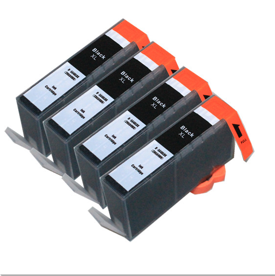 4 x Black BLOOM compatible <font><b>564</b></font> <font><b>XL</b></font> ink cartridge For hp Photosmart premium C309a C309g C309n C310a C310b C310c C410a C410b C410d image