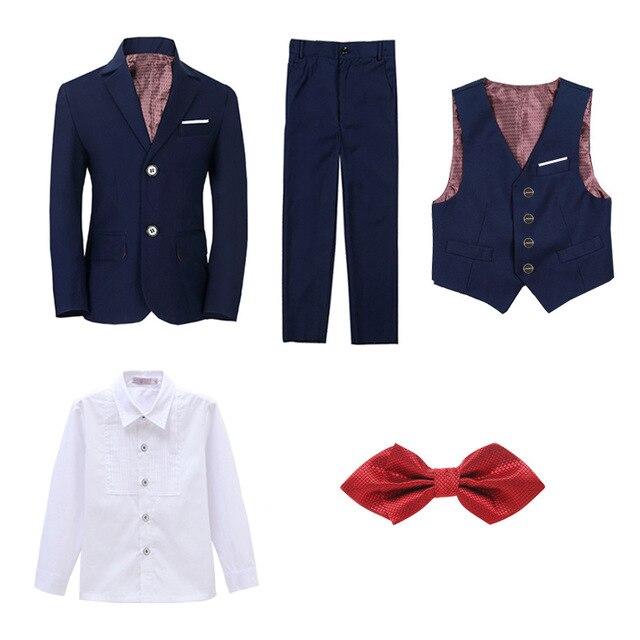 Boys Suits For Weddings Kids Blazer Suit For Boy Costume Enfant Garcon Mariage Jogging Garcon Blazer Boys British styleTuxedo L2 5