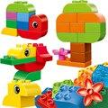 Большой Размер кирпича КИТАЙ марка Строительные Блоки Классические Детские Игрушки, Совместимые с lego Duplo Творческий Ведро 10555