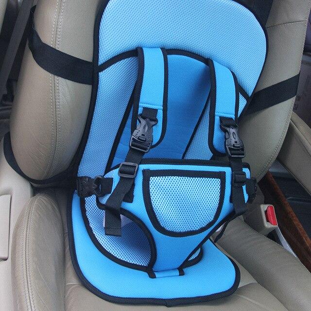 Çocuklar Araba Koruma 0-4 Yaşında Bebek Araba Koltuğu Taşınabilir Bebek Emniyet Seyahat Yastık anti-Kaçış Sistemi Mavi