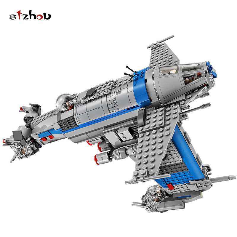 Stzhou Starwars Compatible With Legoing Star Wars 75188 Resistance Bomber Building Blocks 873Pcs Bricks Block Toys For Children starwars