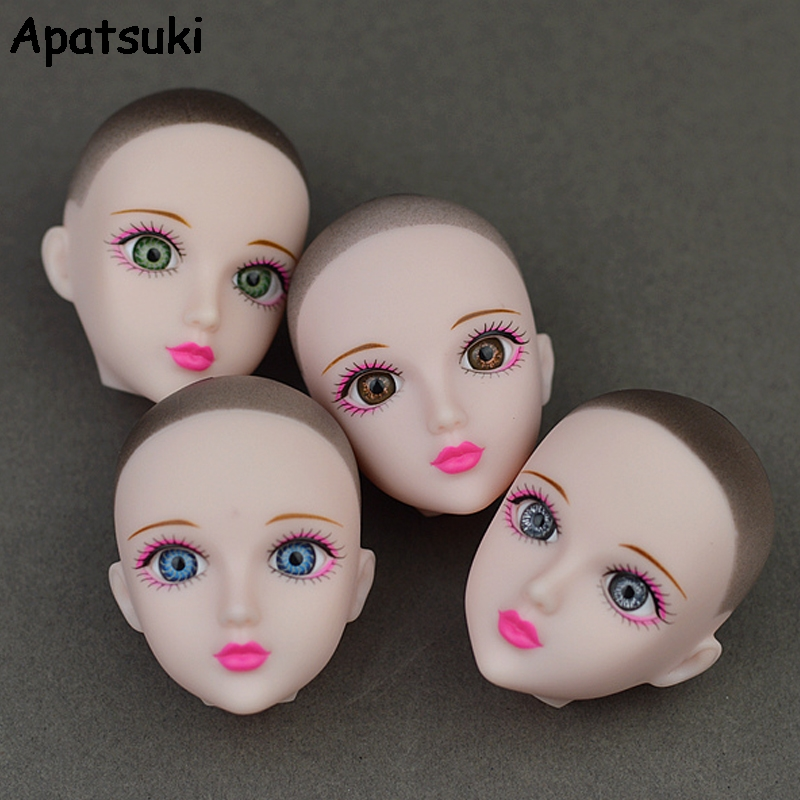 High Quality Practice Doll Heads Original 3D Eye XINYI Doll Head For Barbie Doll Heads For 1/6 BJD Doll's Practicing Makeup Head high quality elastic leather bottoms pants trousers for barbie doll clothes fashion outfit for 1 6 bjd dolls accessories