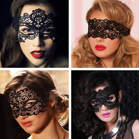 Mascaras Halloween Props Sexy Lace Party Masquerade Mask Venetian Costume Black Hot sales Black Lady Lace  sc 1 st  AliExpress.com & Mascaras Halloween Props Sexy Lace Party Masquerade Mask Venetian ...