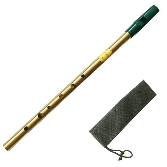 Irish Whistle Ireland Flute Feadog Tin whistle Key of C/D Pennywhistle 6 Holes Feadan Flauta Mini pocket  Musical Instrument 5