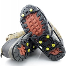 Free transport Antiskid shoe covers as elastic magic spike sneakers Ice Gripper with 6 crampons as ghat slosh mountaineering instrument