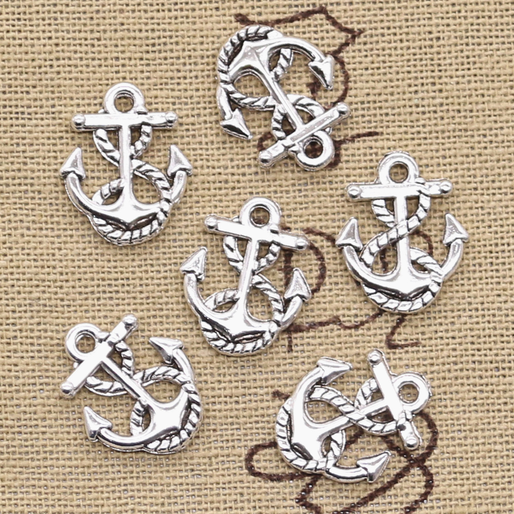 15pcs Charms rope anchor sea 17x14mm Antique Making pendant fit,Vintage Tibetan Silver,DIY bracelet necklace