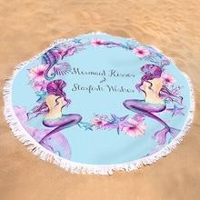 Mermaid Round Beach Sand Blanket