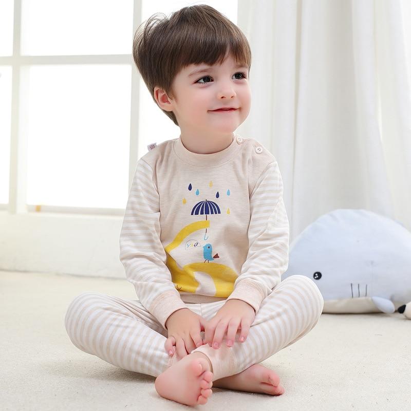 b77e490f21b8 Cheap Pijamas de dibujos animados para niñas niños Toddle bebé recién  nacido Pijama de algodón ropa