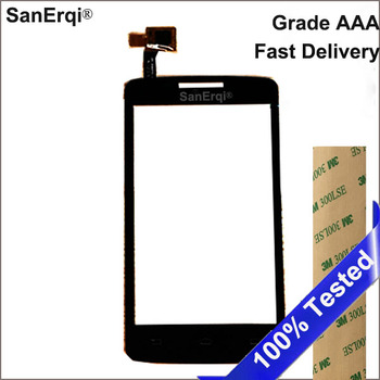 SanErqi 10pcs Front Panel Touch Screen for Philips Xenium D833 sensor Mobile Phone glass display With Free Sticker