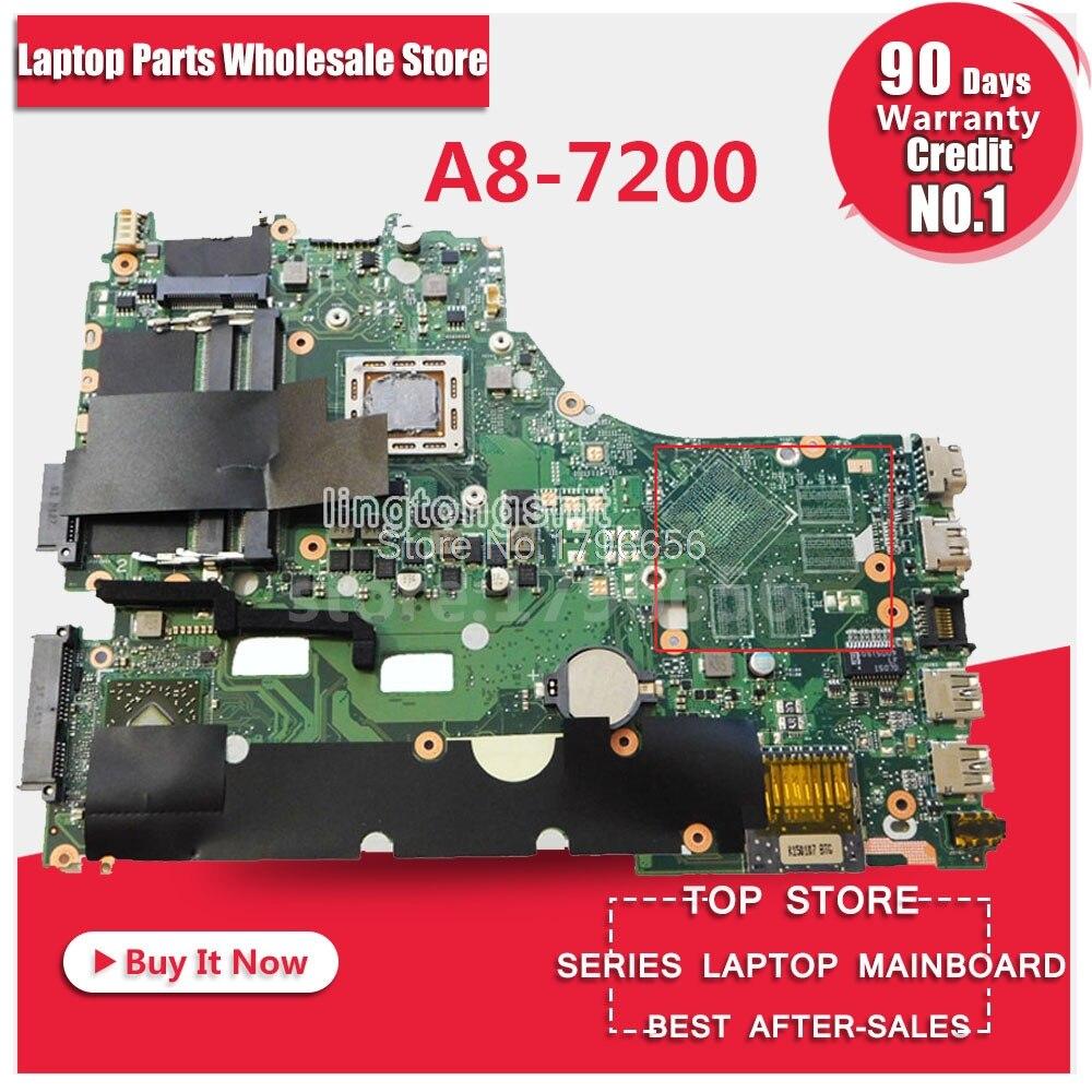 X550ZA X550ZE REV:2.0 A8-7200 cpu motherboard For ASUS VM590Z K555Z A555Z laptop motherboard LVDS/EDP interface 100% tested x550ze motherboard a8 7200 lvds interface for asus vm590z x550ze k555z a555z x555z k550z laptop motherboard x550ze mainboard