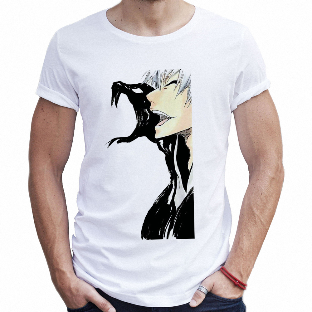 Fashion Summer Tops Tee Mens Anime Bleach T Shirt Cosplay