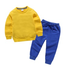 Children Clothing 2019 Autumn Winter Toddler Kids Boys Clothes T-shirt+Pants Sport Suit For Girls Clothing Sets 3 5 7 9 10 Years цена в Москве и Питере