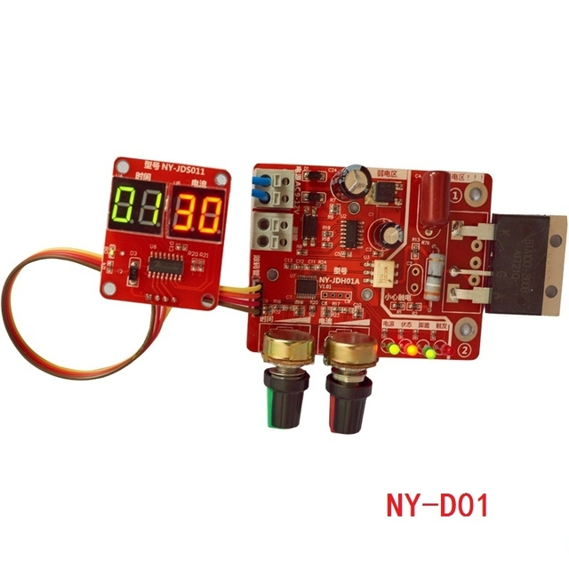Spot Saldatori Scheda di controllo 40A display digitale tempo di saldatura a punti e corrente del pannello di controllo di temporizzazione Amperometro NY D01