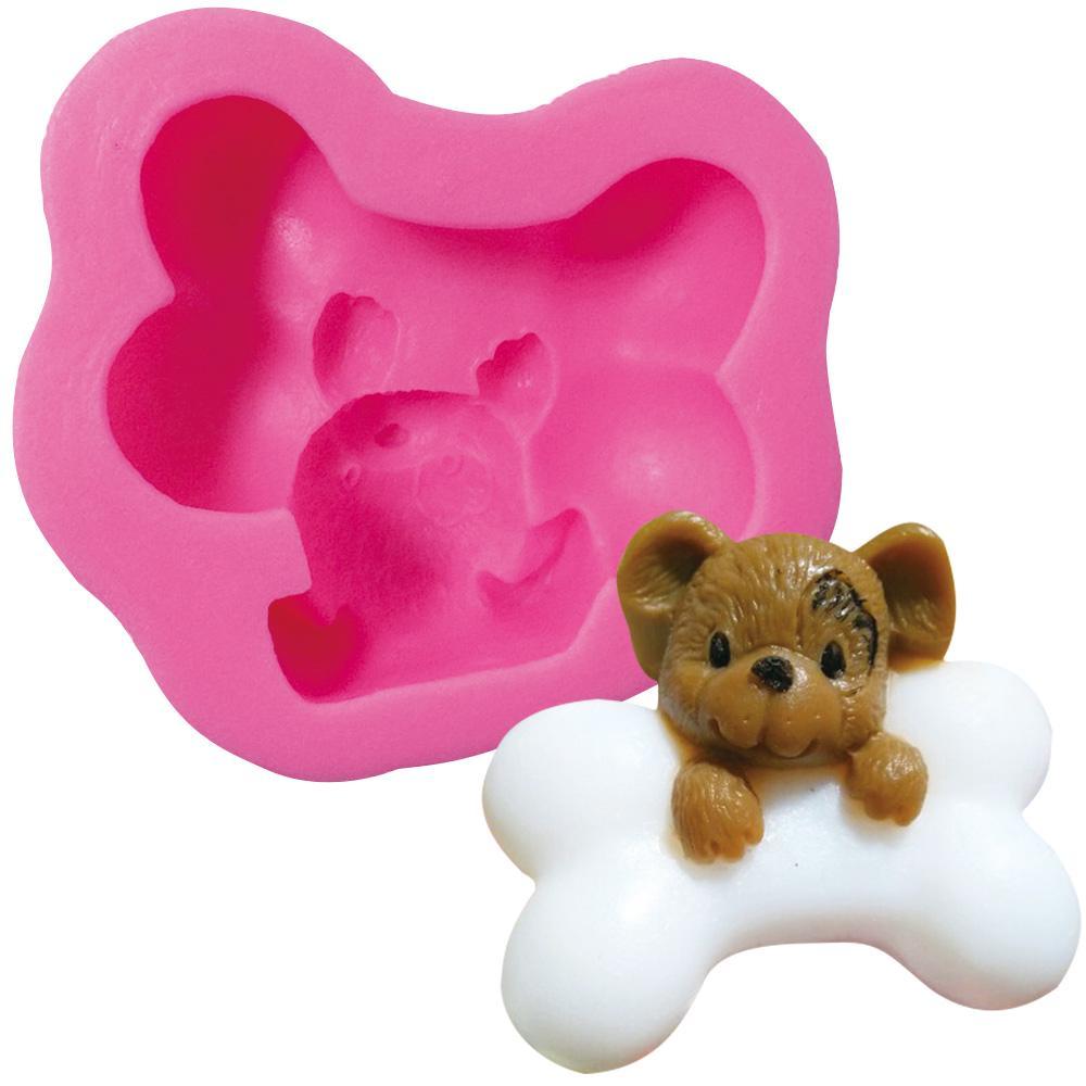 Baking mats dog bone silicone DIY candy jelly cupcake chocolate bakeware 1pc eco-friendly