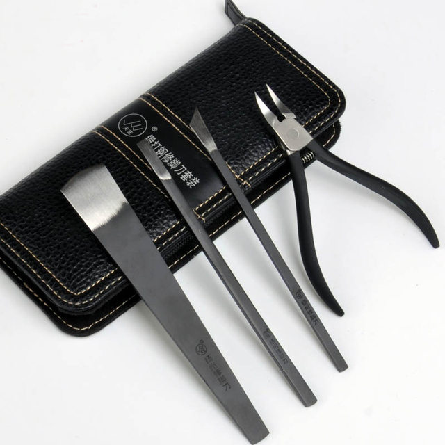 Chinese Style Quality Stainless Steel Profesional Pedicure Cuticle Nail Scissors Set Foot Ingrown Nail Clipper Kit