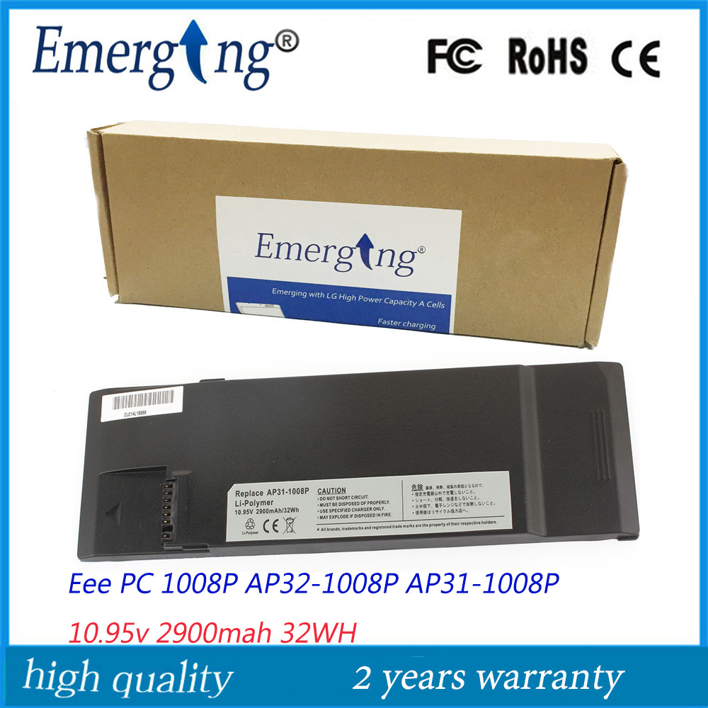 10.95v 31Wh  New Laptop Battery for ASUS  Eee PC AP32-1008P AP31-1008P 1008P нетбук asus eee pc 1005p