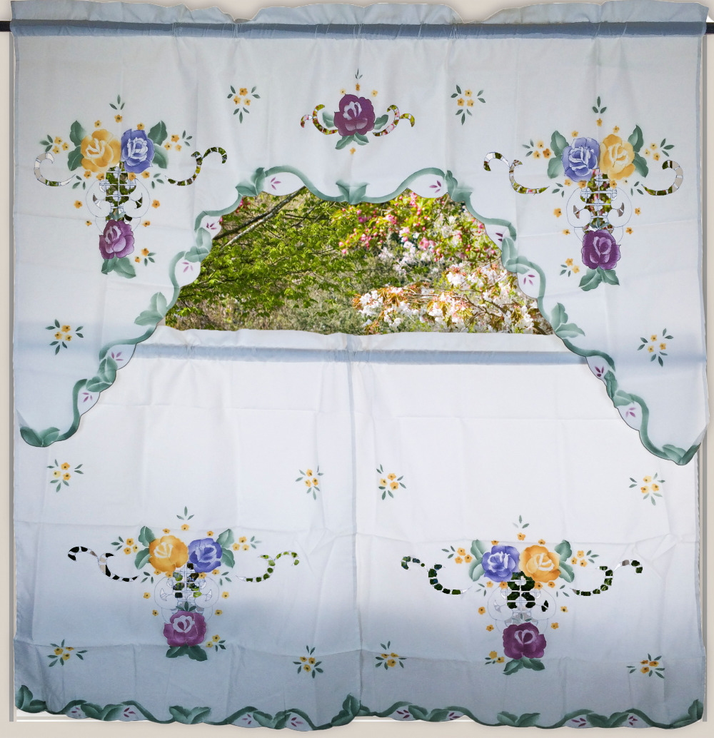 Pastoral Style Window Treatments Floral