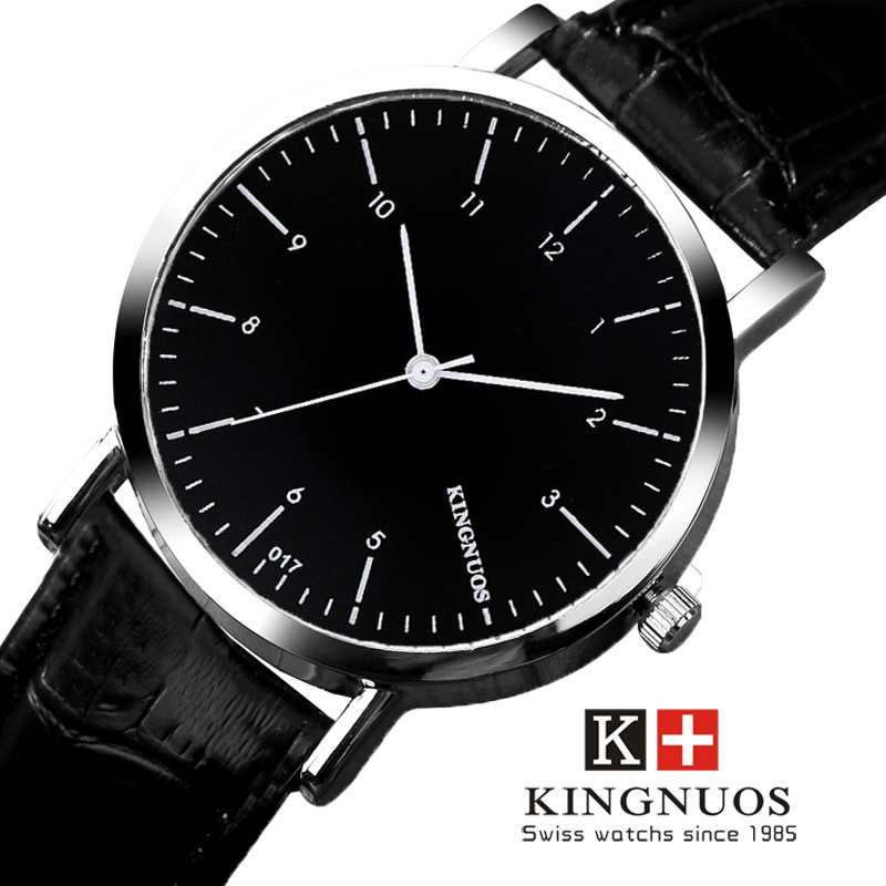 KINGNUOS Top Brand 2017 Leather Quartz Wrist Watch Men Luxury Fashion Casual Sports Wristwatches Hours Hodinky Relogio Masculino стоимость