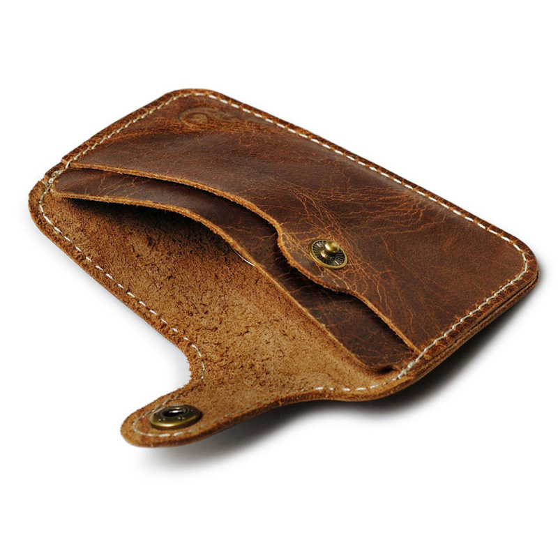 genuine leather card holder porte carte men card id holders bank card case credit cardholder. Black Bedroom Furniture Sets. Home Design Ideas