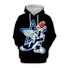 Men Cartoon Bugs Bunny American football print 3d hoodies Sweatshirt unisex casual Pullover autumn jacket with zipper plus size men cartoon bugs bunny 3d hoodies galaxy sweatshirt usa flag print unisex casual pullover autumn jacket tracksuit plus size