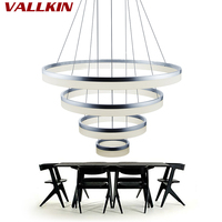 VALLKIN DIY LED Chandeliers Lights For Dining Room Modern Hanging Light Fixtures With AC100 To 240V