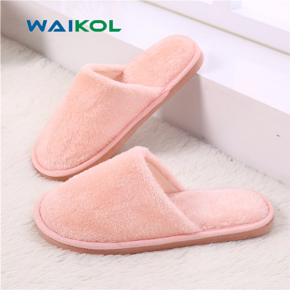 ff8e76f45 Waikol Winter Home Women Slippers Indoor Bedroom House Soft Cotton ...
