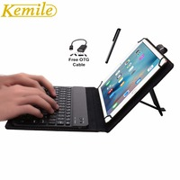 Kemile Removable Wireless Bluetooth 3 0 Aluminum Alloy Keyboard Magnetic Leather Case For Samsung Tab A