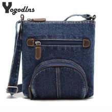 Европейская Женская сумка-мессенджер передний карман ковбойские сумки модные синие джинсовые сумки на плечо женская сумка Классическая