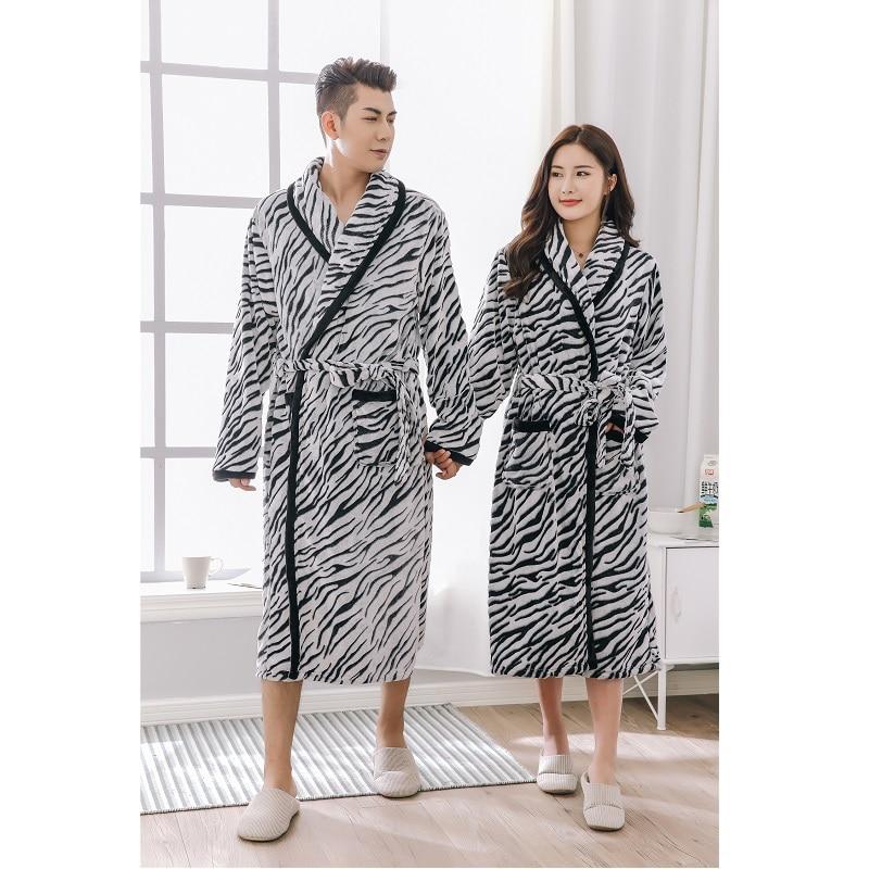couples bathrobe thicking microfiber winter robe women men loungewear kimono nightware home clothing pijama masculino - Mens Bathrobes