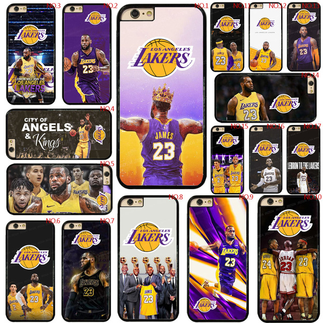 848aef5c4fd1 LeBron James Los Angeles Lakers For iphone 5 5s SE X Case PC Hard TPU  Rubber Hybrid For iPhone 7 8 6 6s 5 5S SE X Case Cover 381