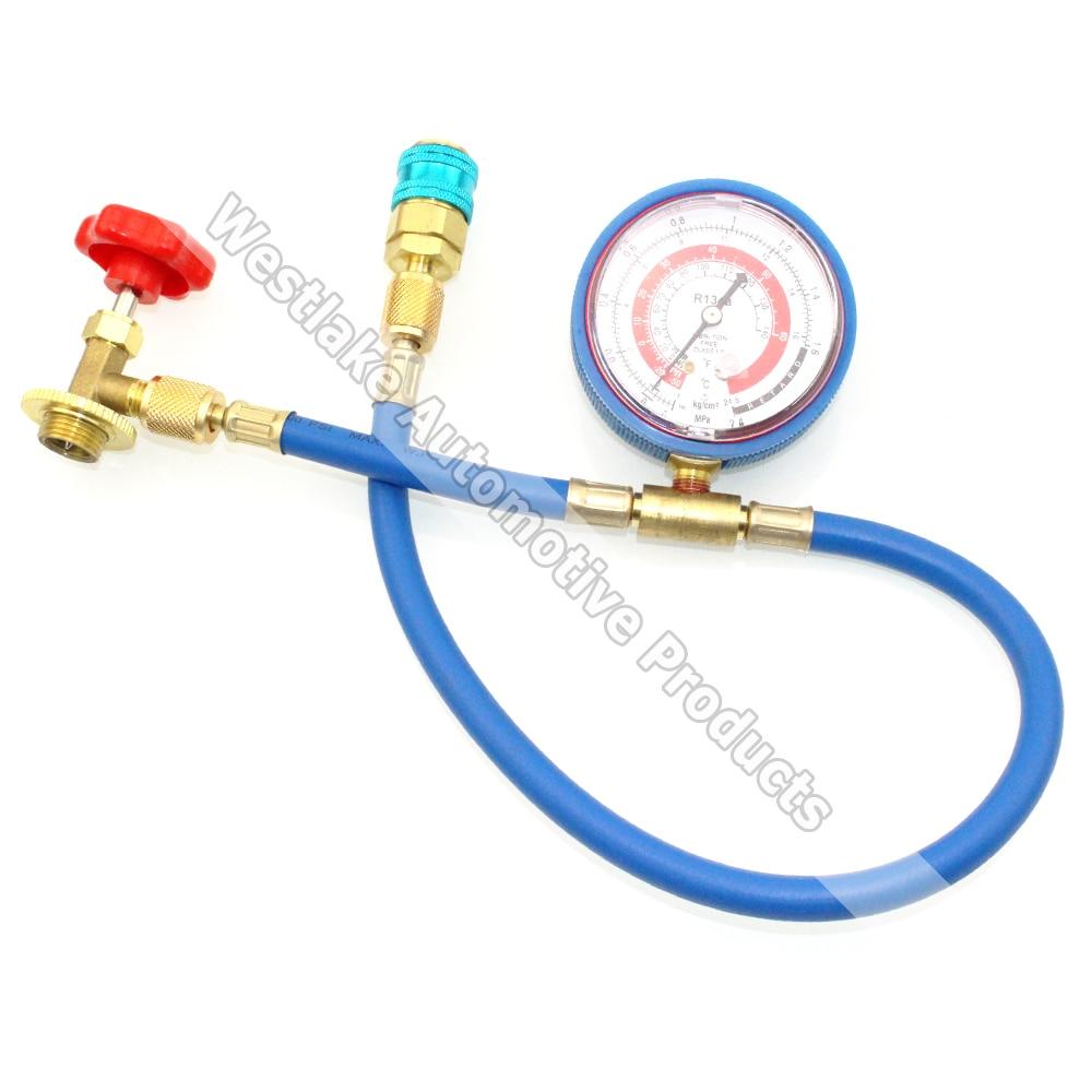 R134A Refrigerant Freon Adding Recharge Tool Hose Gauge