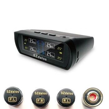 Colorful digital LCD Display Solar TPMS TP400 High precision External Sensor Vihicle Wireless Tire pressure monitoring System