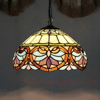 European Retro Tiffany Love Baroque Color Glass Restaurant Art Chandelier Bar