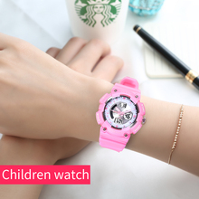 OTS Children Watch Fashion Casual Watches LED Digital Wristwatches Waterproof Jelly Kids Clock boys Hours girls Students watch