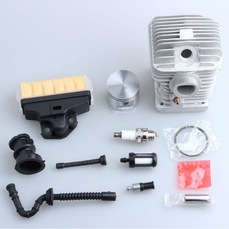 40mm Cylinder Piston Kit for 021 MS210 Chainsaw Parts Air Fuel Filter Line Rep 1123 020 1218 47mm cylinder piston kit for stihl ms310 ms 310 rep 1127 020 1218