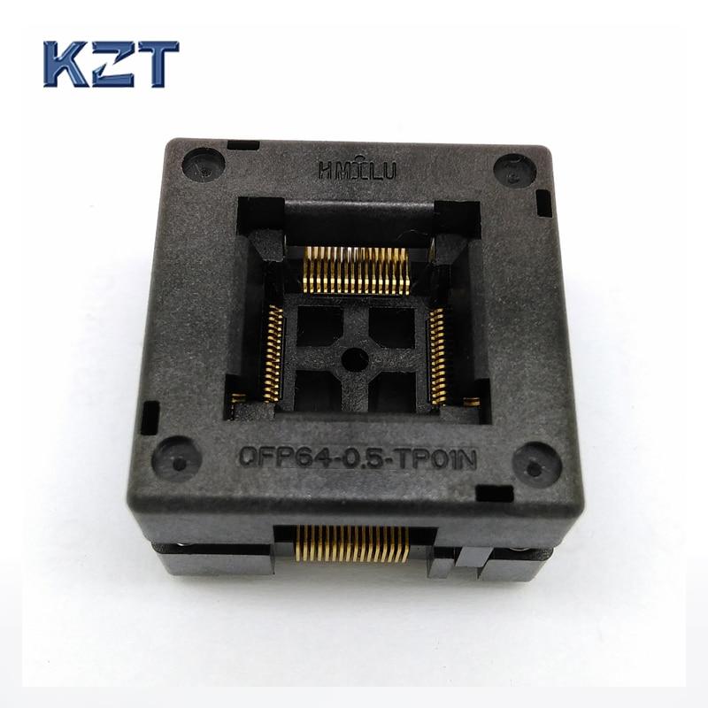 QFP64 TQFP64 LQFP64 Open Top Struttura Bruciare In Socket Passo 0.5mm FPQ-64-0.5-06 Lampo Di Prova Adattatore Di Programmazione