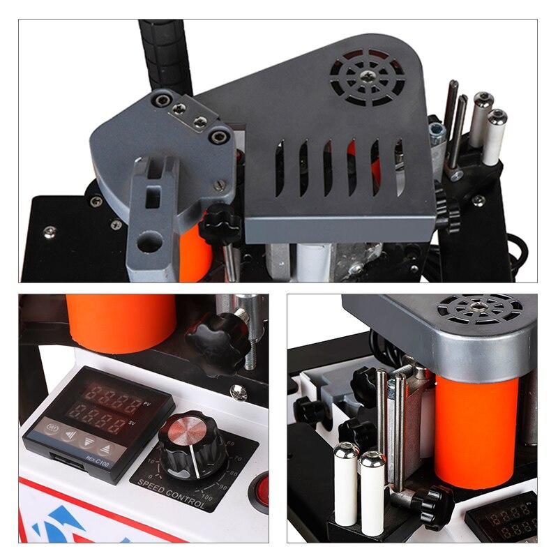 Image 3 - Manual Edge Banding Machine Double Side Gluing Portable Edge Bander Woodworking Edge Banding Machine 110V/220V 1100WWood Based Panels Machinery   -