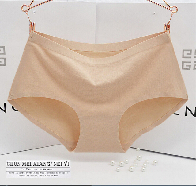 1688cfba9a7a Natural cotton Intimates non-trace underwear middle-waisted bragas calcinha  women briefs panty culotte female cotton panties