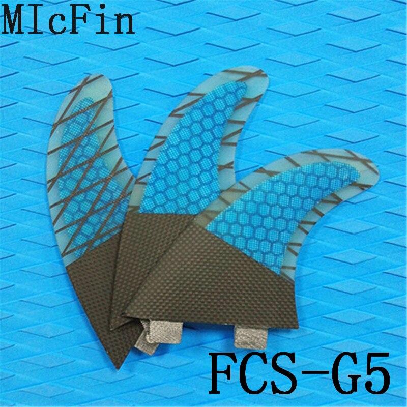 Płetwy z włókna szklanego Micfin Honeycomb Płetwy Surfingowe FCS - Sporty wodne - Zdjęcie 6