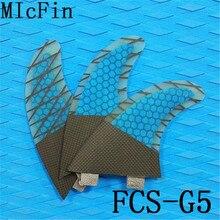 Micfin Panal de carbono Aletas de fibra de vidrio Aletas de Surf FCS G5 M tamaño 3 unids/set quillas quilhas de surf fcs carbono