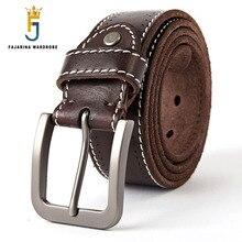 FAJARINA Mens Quality 100% Pure Genuine Leather Pin Buckle Belts for Men Man Retro 38mm Width Belt Male N17FJ296