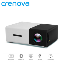 Crenova Mini Portable Projector 320 x 240 Pixels Support 1080P LCD Projector With AV/USB/SD Card/HDMI Interface Build-in Speaker