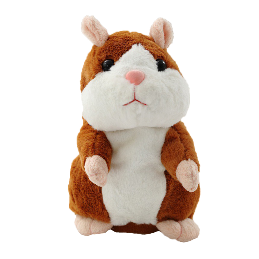 Baby Talking Hamster Mouse Pet Plush Toy Speak Talking Sound Record Hamster Educational Christmas Toy Children Christmas Gift creative kids talking hamster electronic pet toy 1pc