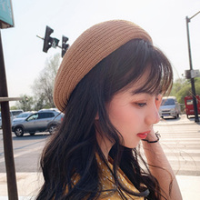 2019 Cap Women Fashion Sweet All-match Cute Concise Retro Solid Color Flat Personality Berets