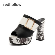 2019 Women Super High Sexy Sandals Slip On Summer Sandal Shoes For Women Thick Heels Sandals Platform Casual Shoes Leather Pumps стоимость