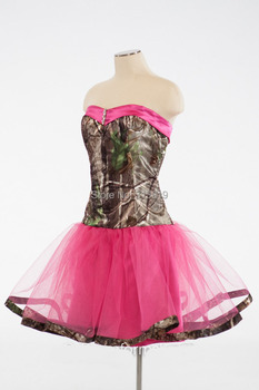 strapless sweetheart  mossy oak  ball gowns  girls short cocktail  party dresses  2020 new styles vestido de festa