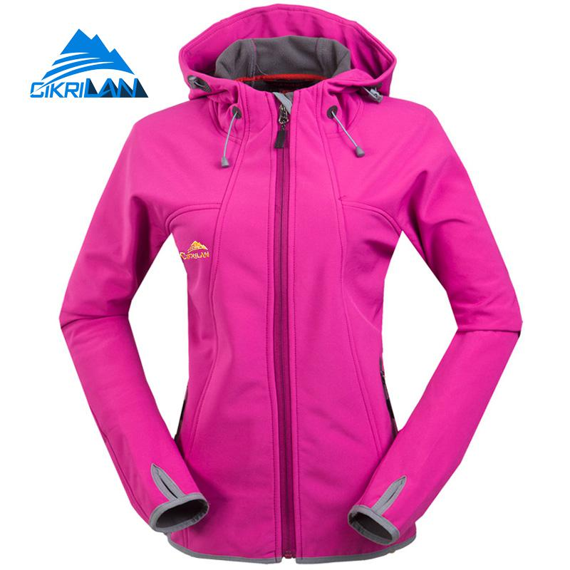 New Softshell Hiking Climbing Outdoor Jacket Women Windbreaker Fleece Liner Camping Warm Coat Fishing Trekking Casaco Feminino